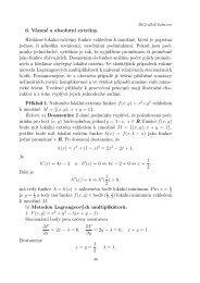 6. Vázané a absolutní extrémy. Hledáme lokální extrémy funkce ...