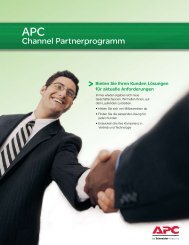 Channel Partnerprogramm - APC