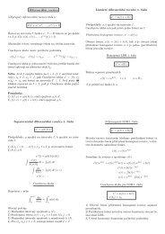 Diferenciální rovnice (Obyčejná) diferenciální rovnice řádu n: F(t, x, x ...