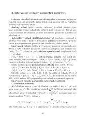 Intervalové odhady parametrů(10)