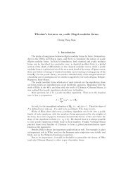Tilouine's lectures on p-adic Siegel modular forms - Department of ...