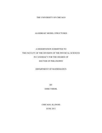 thesis - Department of Mathematics