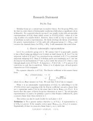 Research Statement