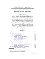Algebraic model structures - Department of Mathematics