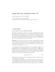 Gauge theory for embedded surfaces, II