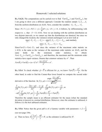 Homework 1 selected solutions