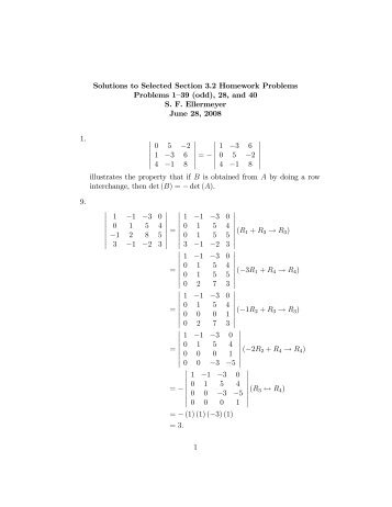Solutions to Selected Section 3.2 Homework Problems Problems ...