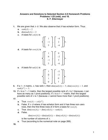 Answers and Solutions to Selected Section 4.6 Homework Problems ...