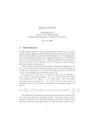 Kubota Symbol - Department of Mathematics - Stanford University