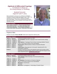 Algebraic & Differential Topology - Stanford University