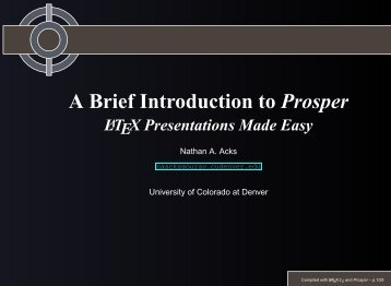 A Brief Introduction to Prosper