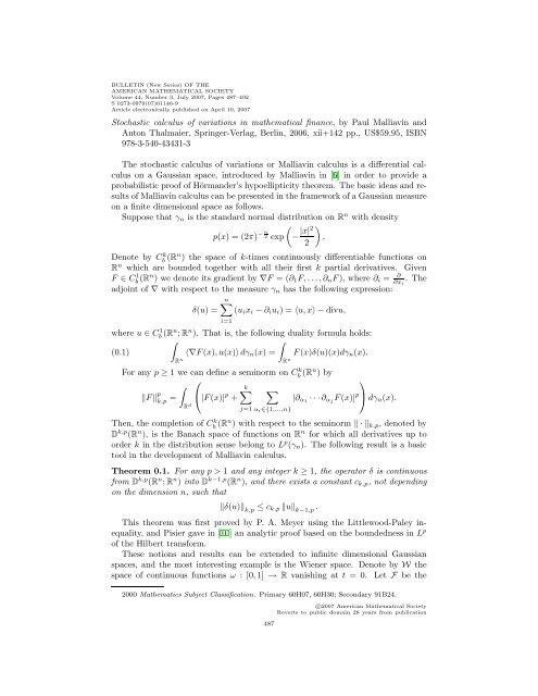 Bulletin of the AMS - Mathematics Research Unit