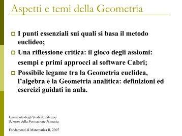 Diapositiva 1 - Dipartimento di Matematica e Informatica