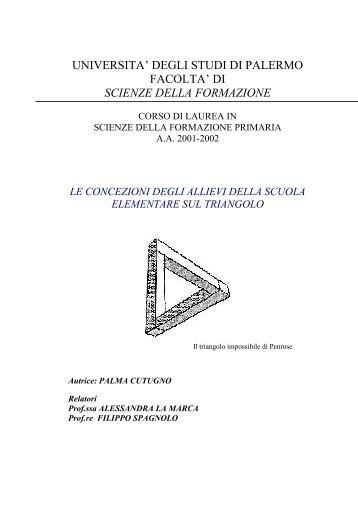 Palma Cutugno - Dipartimento di Matematica e Informatica