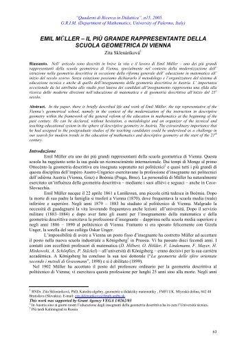 emil müller - Dipartimento di Matematica e Informatica
