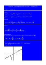 Soluzione al primo quesito della prova del 1 febbraio 2002 ( )
