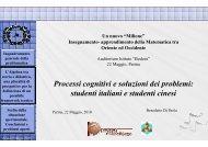 Processi cognitivi e soluzioni dei problemi - Dipartimento di ...