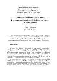 Le manuscrit mathématique de Jerba : Une pratique des symboles ...