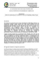 Filip Roubíček, Le changement des stratégies d'instructiondans le ...