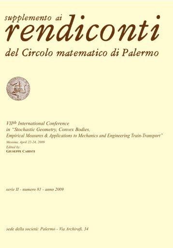 Serie II numero 81 - Dipartimento di Matematica e Informatica