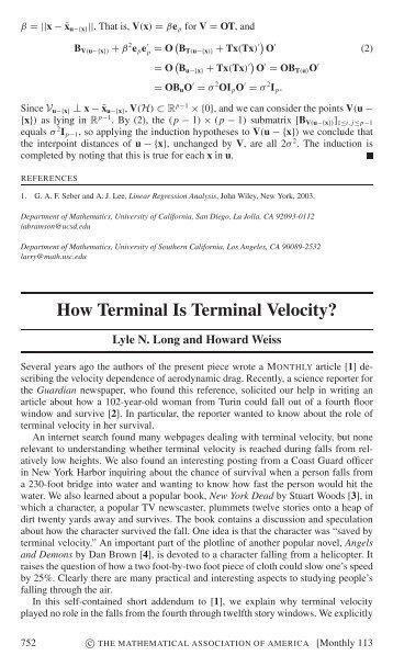 A23 Free fall, terminal velocity. - CMF