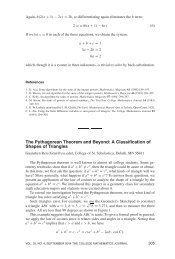 The Pythagorean Theorem and Beyond: A Classification of Shapes ...