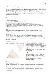 Aehnlichkeitssätze für Dreiecke