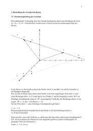 3. Die Parametergleichung der Geraden im Raum