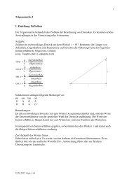 Trigonometrie 1