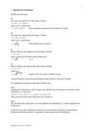 Beispiele von algebraischen Funktionen