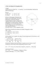 Eine Anwendung in der Kugelgeometrie