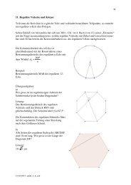11. Reguläre Vielecke und Körper Teilt man die Kreislinie in n ...