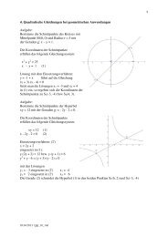 4. Quadratische Gleichungen bei geometrischen Anwendungen ...