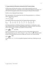 Approximation der Binomialverteilung durch die Normalverteilung