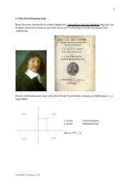 1.2 Das Koordinatensystem René Descartes beschreibt in seinem ...