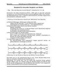 Beispiele für sinnvollen Vergleich von Skalen - Mathematik