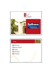 Verlauf Definitionen Was ist Fathom? Vertreter ... - Mathematik