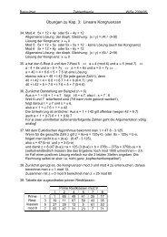 Übungen zu Kap. 3: Lineare Kongruenzen - Mathematik