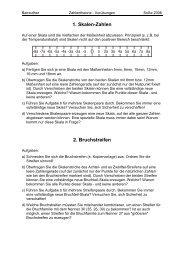1. Skalen-Zahlen 2. Bruchstreifen - Mathematik