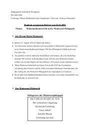 Handout zu unserem Referat vom 26.01.2005 Thema - Mathematik ...