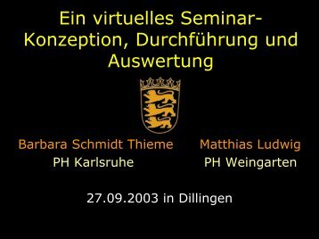 Vortrag - Mathematik