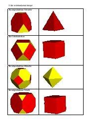 5. Die Archimedischen Körper Das abgeschnittene ... - Mathematik