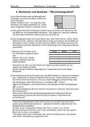4. Rechtecke und Quadrate -