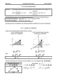 3.2. Das Skalarprodukt 3.2.1. Länge von Vektoren - Mathematik