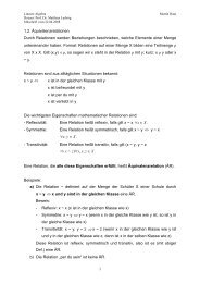 Vorlesung 2 - Mathematik