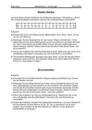 Skalen-Zahlen Bruchstreifen - Mathematik