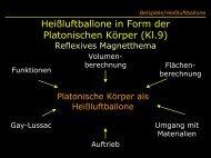 Heißluftballone in Form der Platonischen Körper \(Kl.9 ... - Mathematik