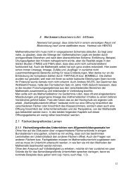 Dossier Teil 2 - Mathematik