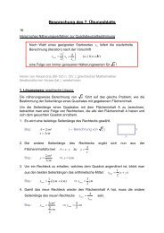 Übung 7 - Mathematik