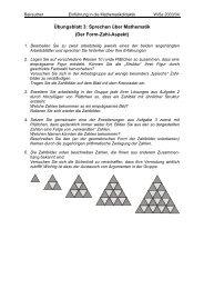 Übungsblatt 3: Sprechen über Mathematik (Der Form-Zahl-Aspekt)
